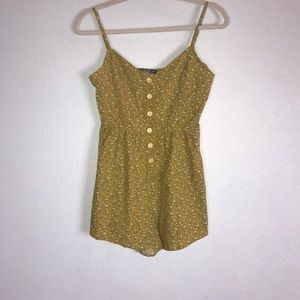 Shein yellow and white flower romper